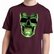 Halloween Glow Bones Kids Moisture Wicking Shirt