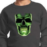 Halloween Glow Bones Kids Sweat Shirt