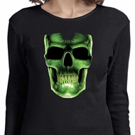 Halloween Glow Bones Ladies Long Sleeve Shirt