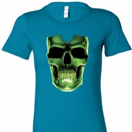 Halloween Glow Bones Ladies Longer Length Shirt