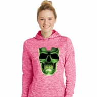 Halloween Glow Bones Ladies Moisture Wicking Hoodie