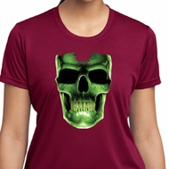 Halloween Glow Bones Ladies Moisture Wicking Shirt