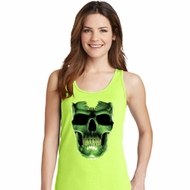 Halloween Glow Bones Ladies Tank Top