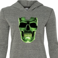 Halloween Glow Bones Ladies Tri Blend Hoodie Shirt