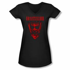 Halloween III Shirt Juniors V Neck Title Black Tee T-Shirt