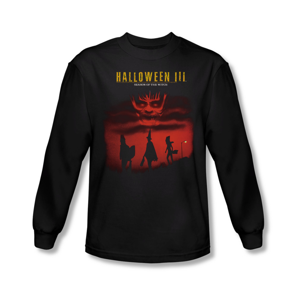 halloween iii shirt season of the witch long sleeve black tee t shirt halloween iii season of the witch shirts