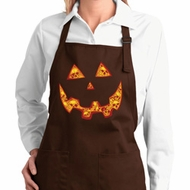 Halloween Jack O Lantern Skull Ladies Full Length Apron with Pockets