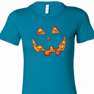 Halloween Jack O Lantern Skull Ladies Longer Length Shirt