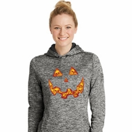 Halloween Jack O Lantern Skull Ladies Moisture Wicking Hoodie