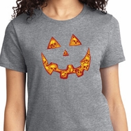 Halloween Jack O Lantern Skull Ladies Shirt