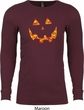 Halloween Jack O Lantern Skull Long Sleeve Thermal Shirt