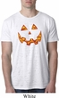 Halloween Jack O Lantern Skull Mens Burnout Shirt