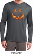Halloween Jack O Lantern Skull Mens Dry Wicking Long Sleeve Shirt