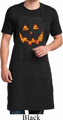 Halloween Jack O Lantern Skull Mens Full Length Apron with Pockets