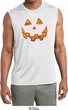 Halloween Jack O Lantern Skull Mens Sleeveless Moisture Wicking Shirt