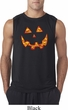 Halloween Jack O Lantern Skull Mens Sleeveless Shirt