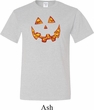 Halloween Jack O Lantern Skull Mens Tall Shirt