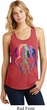 Halloween Melting Skull Ladies Racerback Tank Top