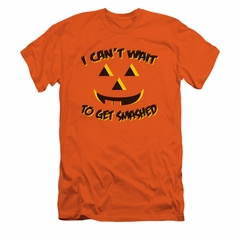 Halloween Shirt Slim Fit Get Smashed Orange T-Shirt