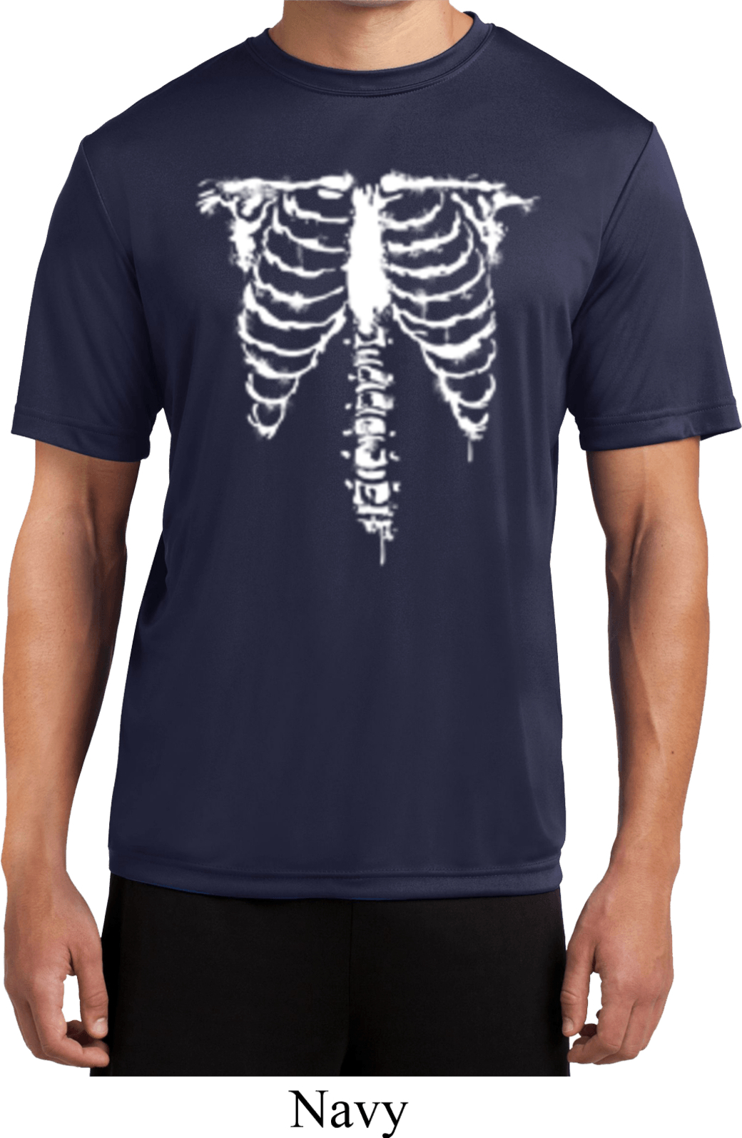 Halloween Skeleton Mens Moisture Wicking Shirt Skeleton