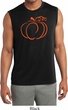 Halloween Tee Pumpkin Sketch Dry Wicking Sleeveless Shirt