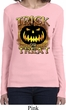 Halloween Trick or Treat Ladies Long Sleeve Shirt