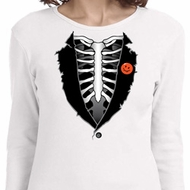 Halloween Tuxedo Ladies Long Sleeve