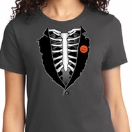 Halloween Tuxedo Ladies T-shirt