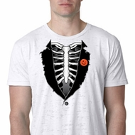 Halloween Tuxedo Mens Burnout Shirt