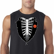 Halloween Tuxedo Mens Sleeveless Shirt