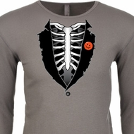 Halloween Tuxedo Mens Thermal Shirt