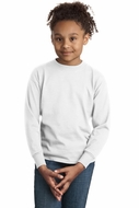 Hanes Youth Long Sleeve Shirt Tagless 100% Cotton Tee T-Shirt