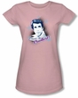 Happy Days Juniors Tee Fonzie's the Coolest Fitted Girly Pink Tee
