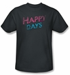 Happy Days Kids T-shirt - Distressed Youth Charcoal Tee Shirt