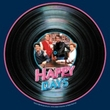Happy Days T-shirt - On the Record Adult Navy Blue Tee