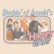 Happy Days T-shirt - Rockin' at Arnolds Adult Cream Tee