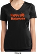 Happy Halloween with Pumpkin Ladies Dry Wicking V-neck