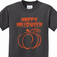 Happy Halloween with Pumpkin Sketch Kids Shirts