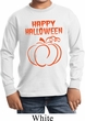Happy Halloween with Pumpkin Sketch Youth Long Sleeve