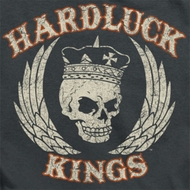 Hardluck Kings Red Cream Distressed Shirts