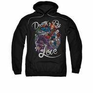 Harley Quinn Hoodie Death By Love Black Sweatshirt Hoody