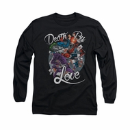 Harley Quinn Shirt Death By Love Long Sleeve Black Tee T-Shirt