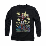 Harley Quinn Shirt Hammer Time Long Sleeve Black Tee T-Shirt