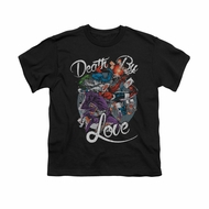 Harley Quinn Shirt Kids Death By Love Black T-Shirt
