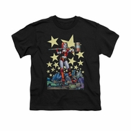 Harley Quinn Shirt Kids Hammer Time Black T-Shirt