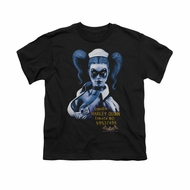 Harley Quinn Shirt Kids Inmate Black T-Shirt