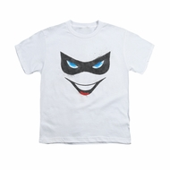 Harley Quinn Shirt Kids Mask White T-Shirt