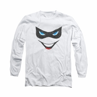 Harley Quinn Shirt Mask Long Sleeve White Tee T-Shirt