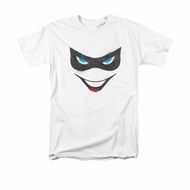 Harley Quinn Shirt Mask White T-Shirt