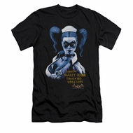 Harley Quinn Shirt Slim Fit Inmate Black T-Shirt
